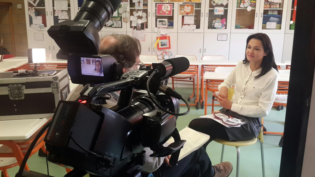 filming english teacher in Ankara
