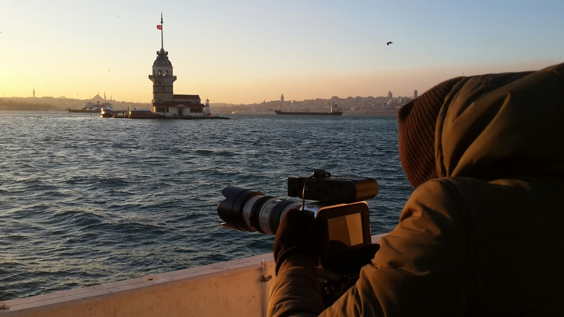 filming sunset in maiden's tower