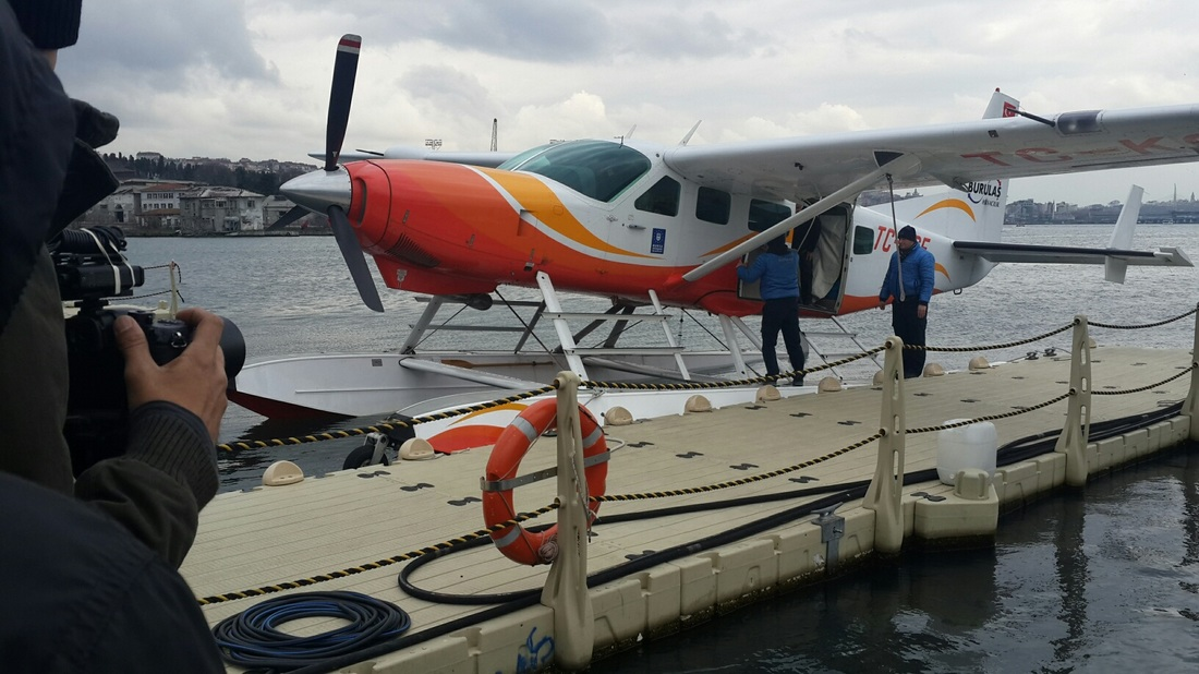 sea plane filming in istanbul