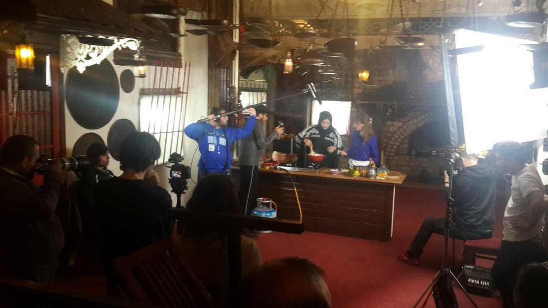 filming recipes in istanbul