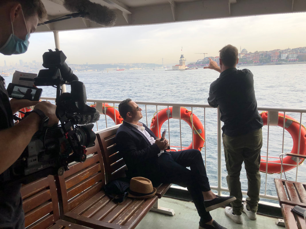 istanbul filming on a boat
