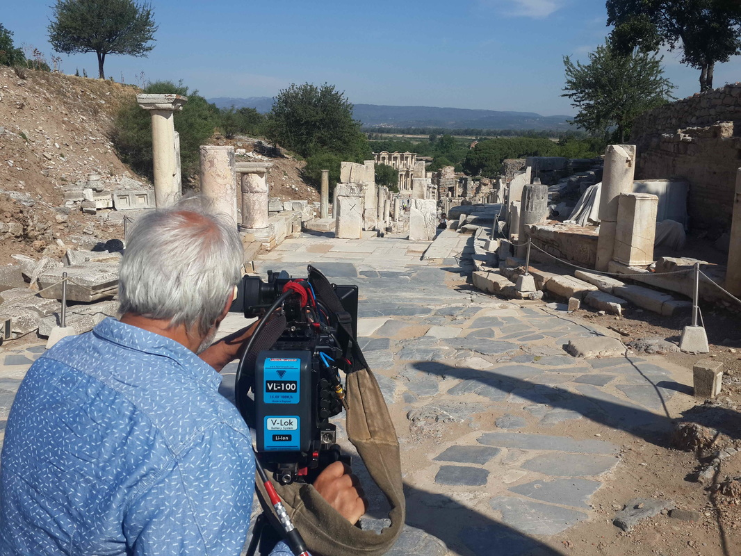 filming in ephesus ruins