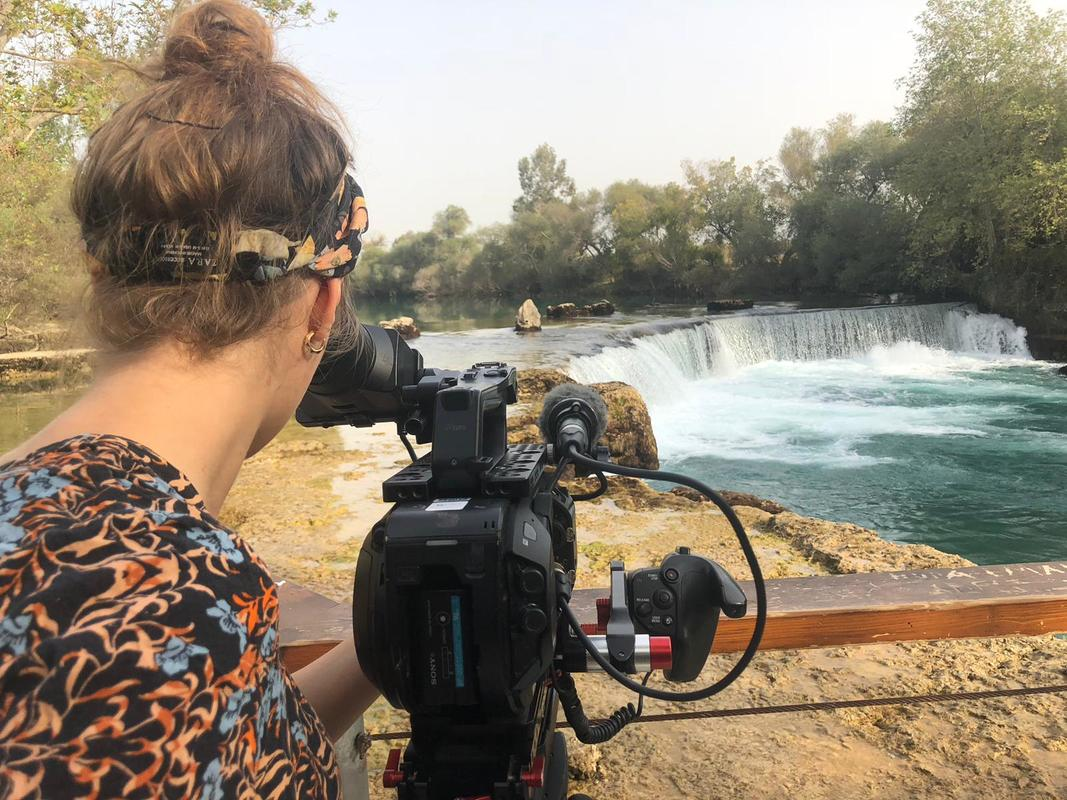 filming in manavgat waterfalls