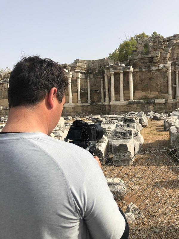 filming in Apollo's Temple