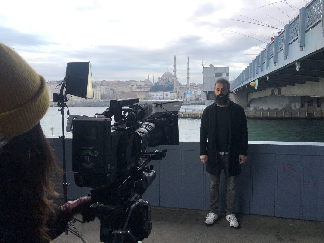 filming on galata bridge